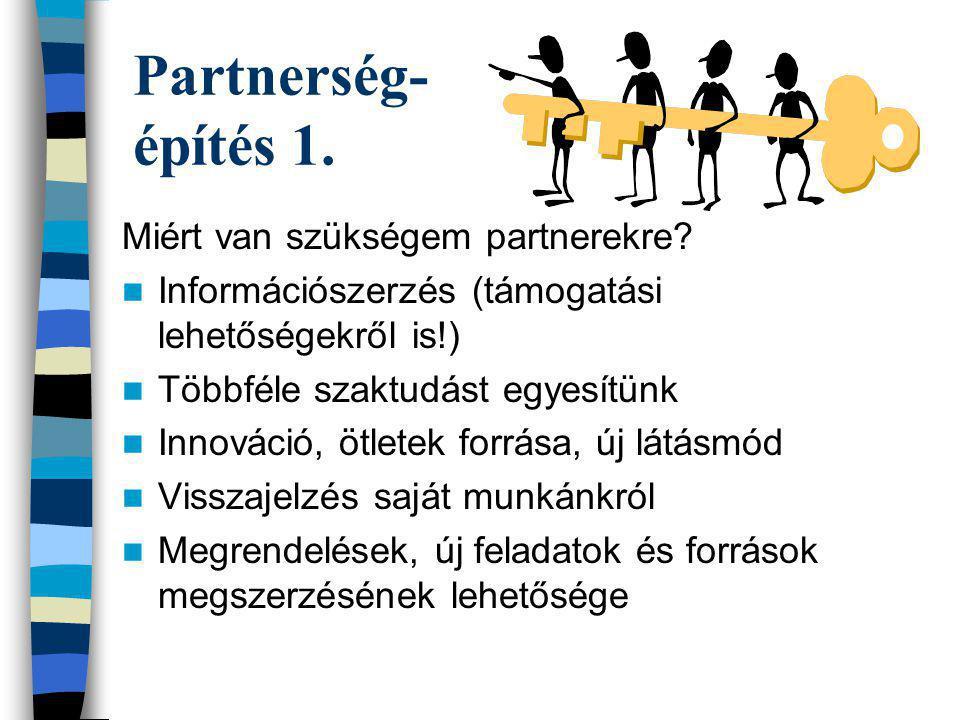 Partnerség- építés 1. Miért van szükségem partnerekre