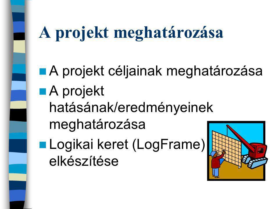 A projekt meghatározása