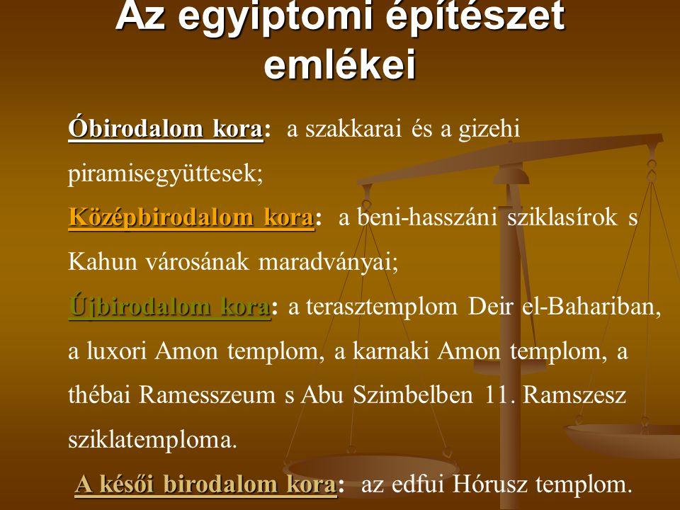 Az egyiptomi építészet emlékei