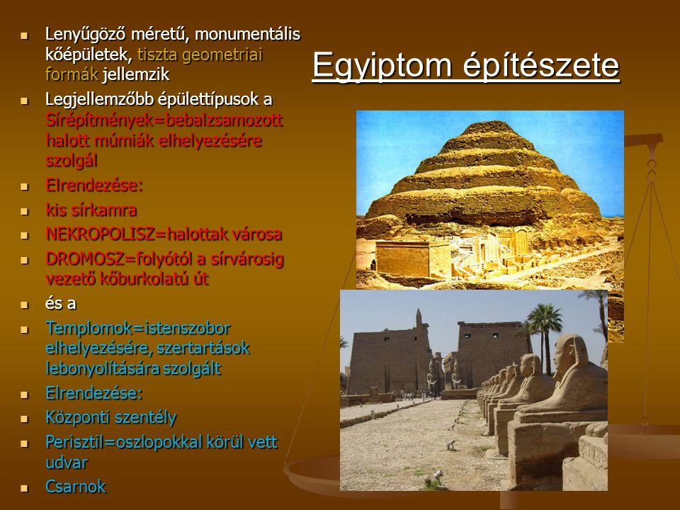 Lenyűgöző méretű, monumentális kőépületek, tiszta geometriai formák jellemzik