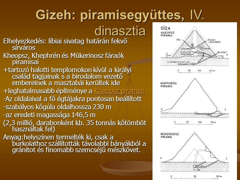Gizeh: piramisegyüttes, IV. dinasztia