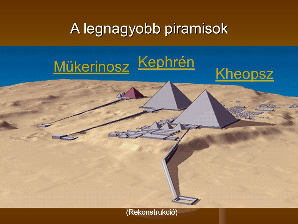A legnagyobb piramisok
