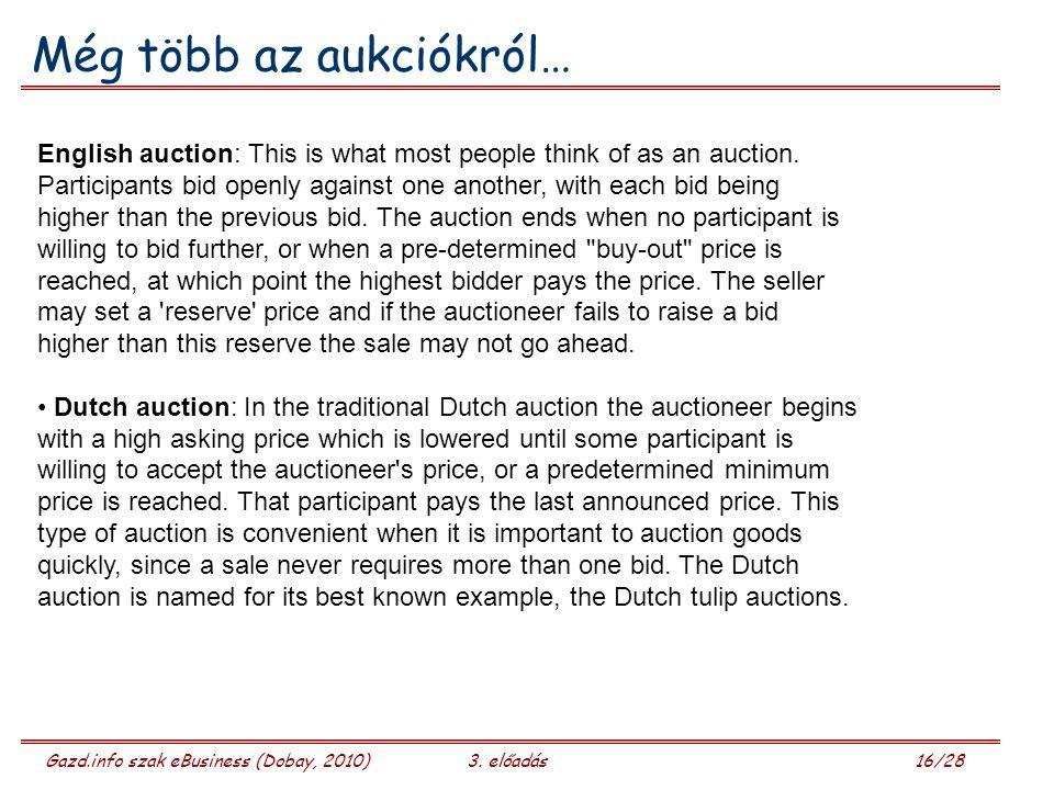 Még több az aukciókról…