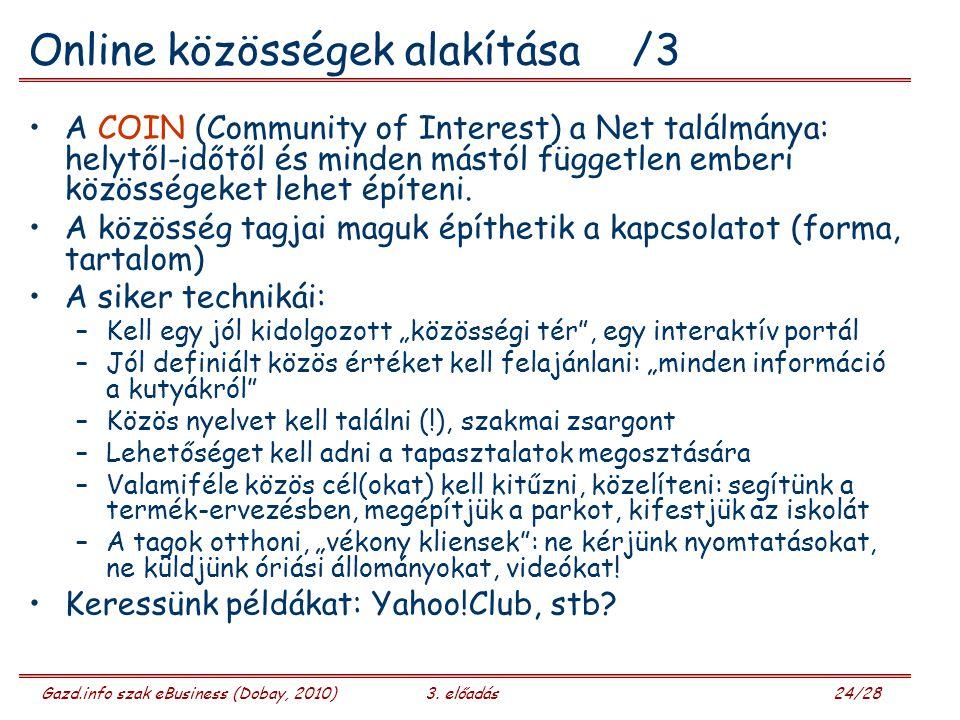 Online közösségek alakítása /3
