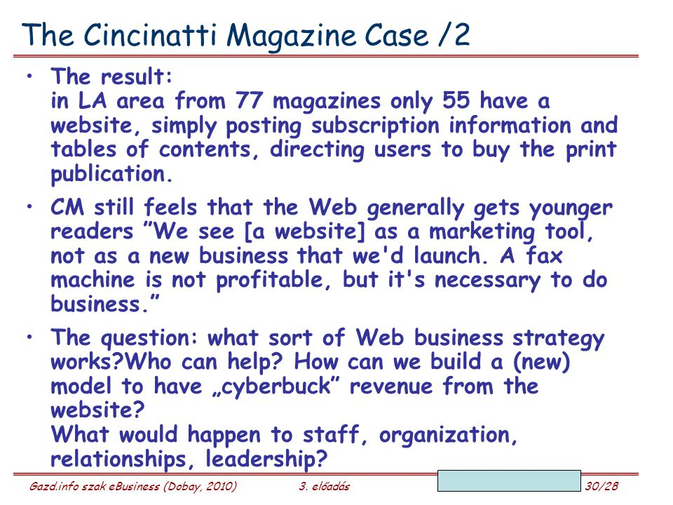The Cincinatti Magazine Case /2