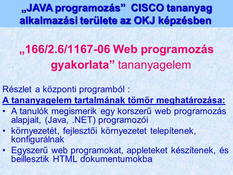"""166/2.6/1167-06 Web programozás gyakorlata tananyagelem"