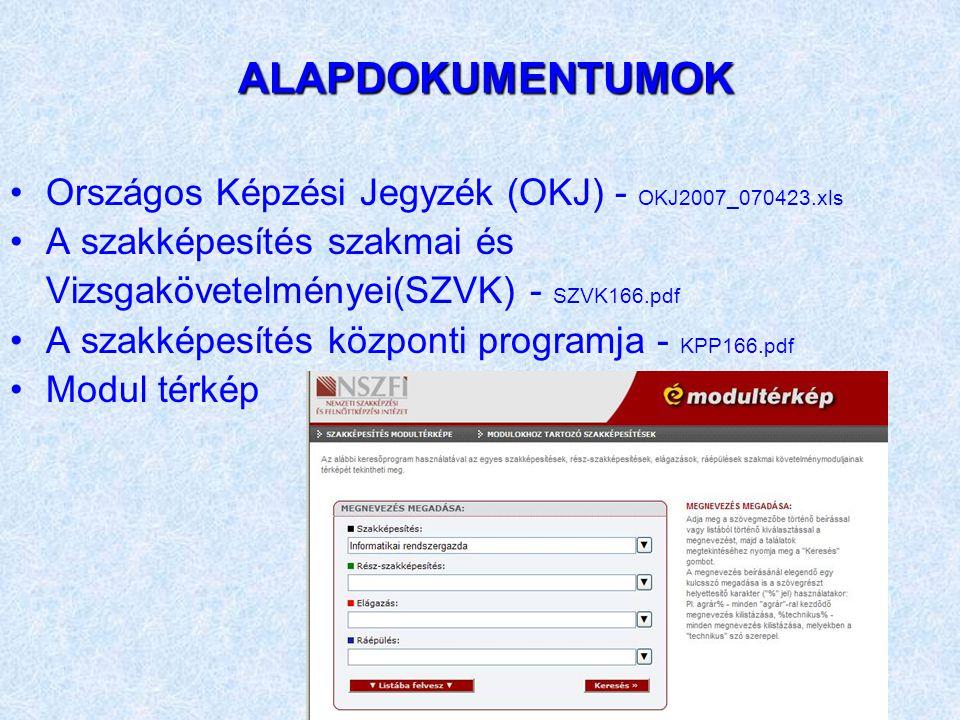 ALAPDOKUMENTUMOK Országos Képzési Jegyzék (OKJ) - OKJ2007_070423.xls