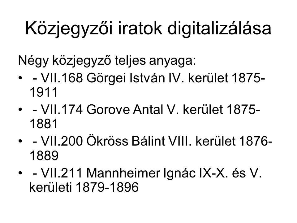 Közjegyzői iratok digitalizálása
