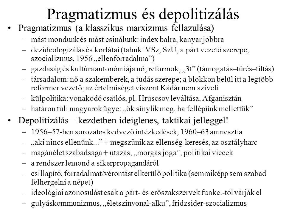 Pragmatizmus és depolitizálás