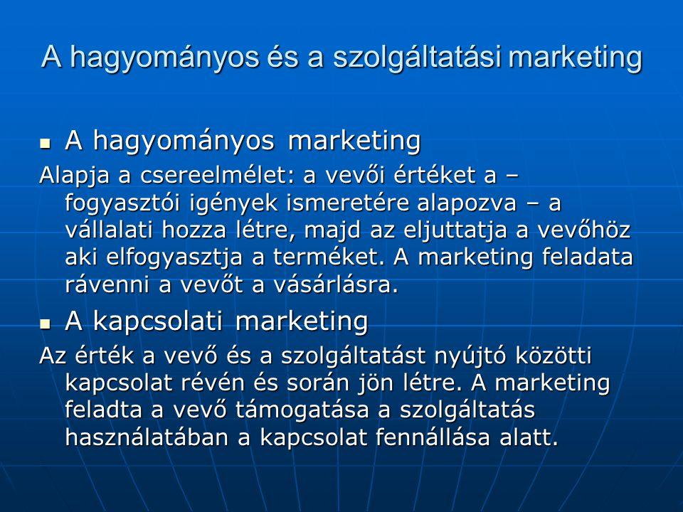 A hagyományos és a szolgáltatási marketing