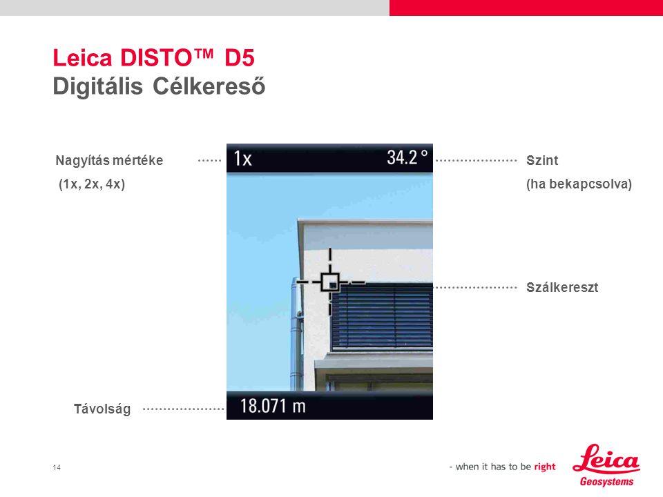 Leica DISTO™ D5 Digitális Célkereső