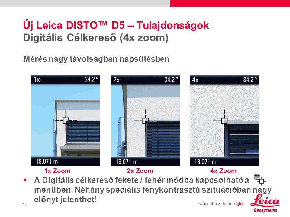 Új Leica DISTO™ D5 – Tulajdonságok Digitális Célkereső (4x zoom)
