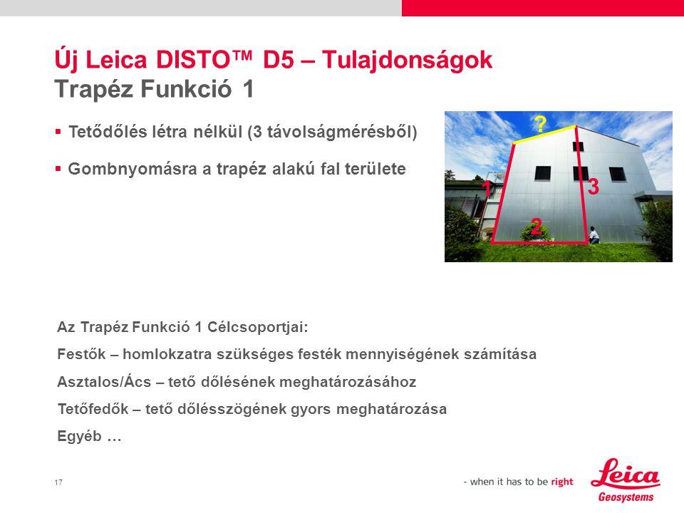 Új Leica DISTO™ D5 – Tulajdonságok Trapéz Funkció 1