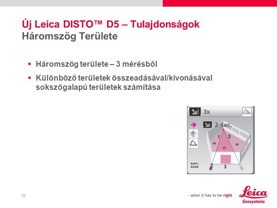 Új Leica DISTO™ D5 – Tulajdonságok Háromszög Területe