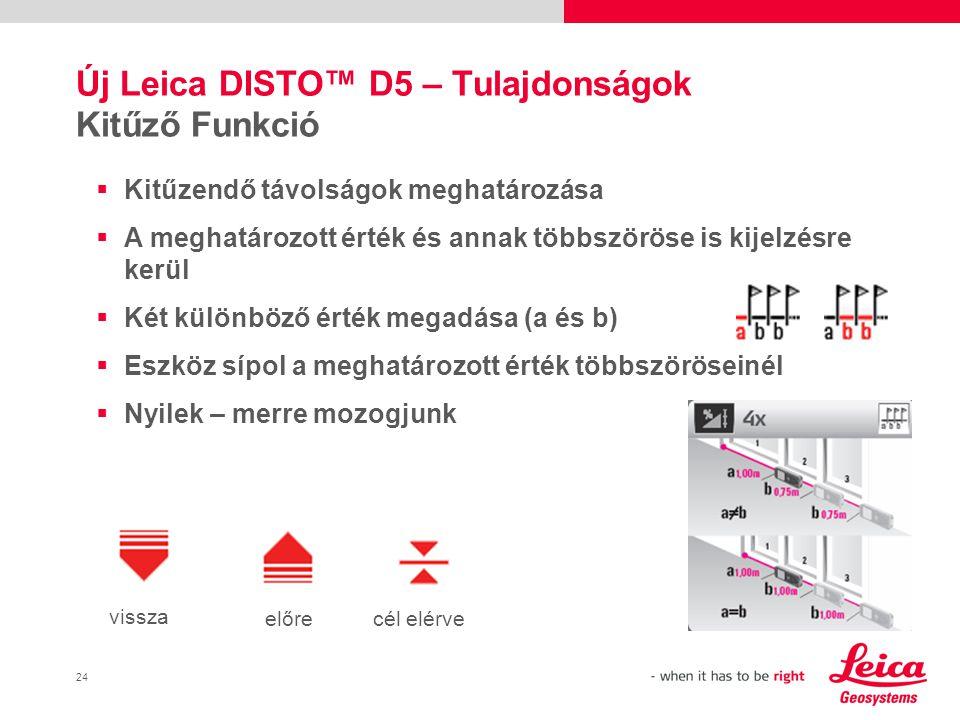Új Leica DISTO™ D5 – Tulajdonságok Kitűző Funkció