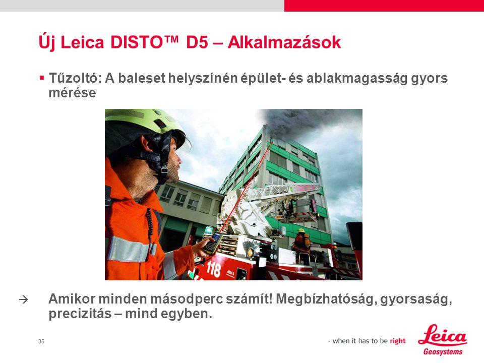 Új Leica DISTO™ D5 – Alkalmazások