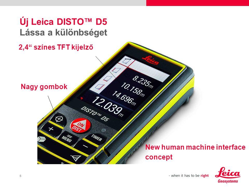 Új Leica DISTO™ D5 Lássa a különbséget
