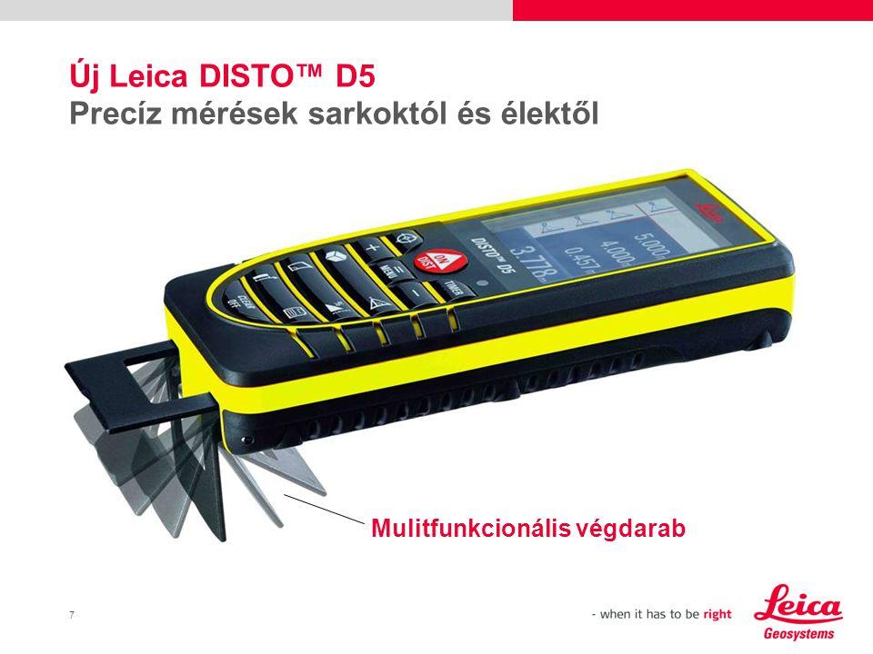 Új Leica DISTO™ D5 Precíz mérések sarkoktól és élektől