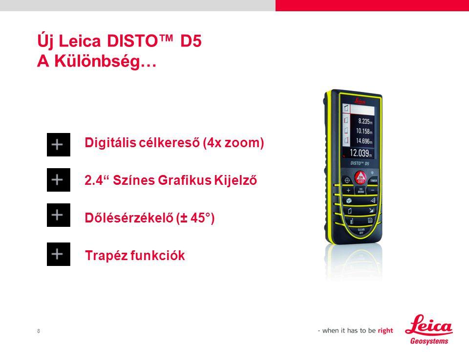Új Leica DISTO™ D5 A Különbség…
