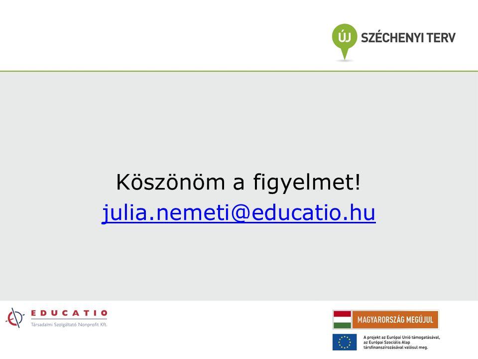 Köszönöm a figyelmet! julia.nemeti@educatio.hu