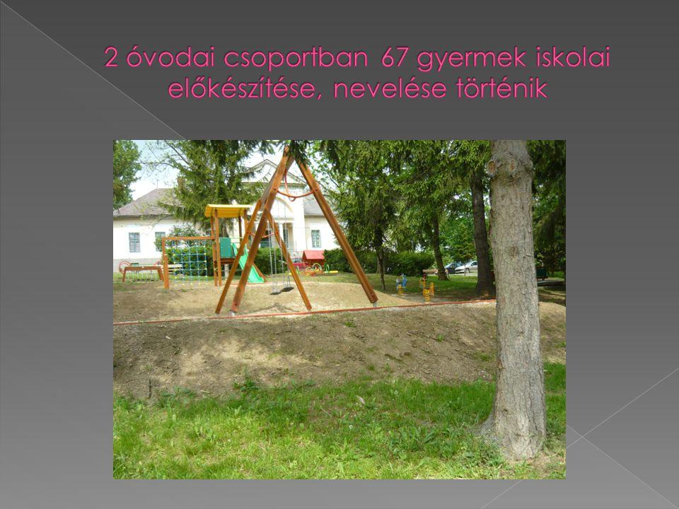 2 óvodai csoportban 67 gyermek iskolai előkészítése, nevelése történik