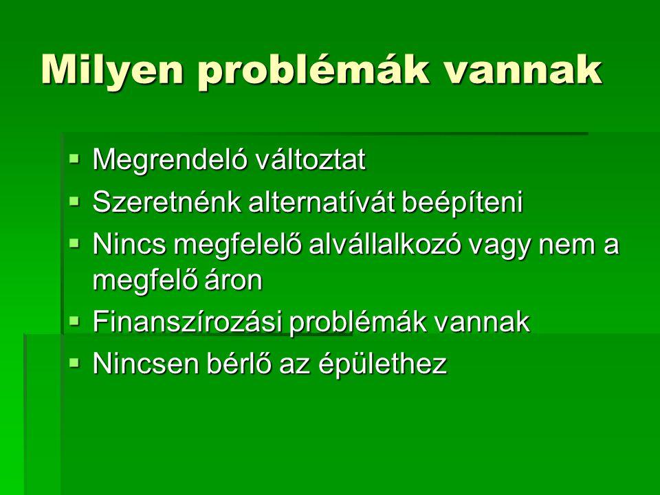 Milyen problémák vannak