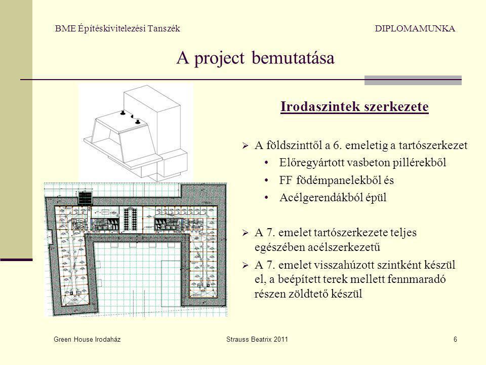 BME Építéskivitelezési Tanszék DIPLOMAMUNKA A project bemutatása