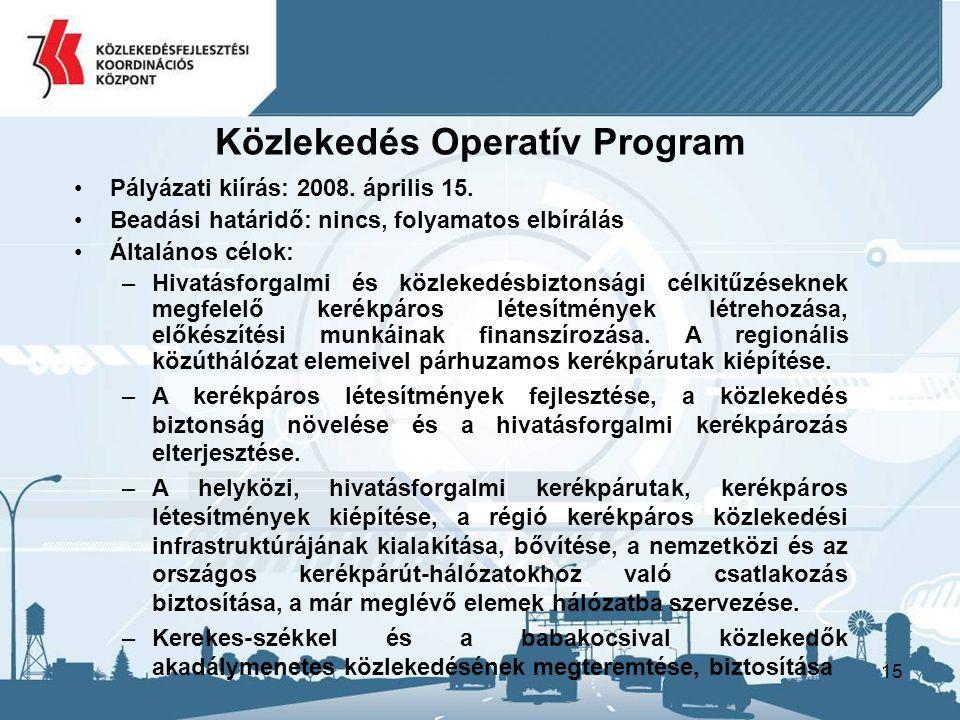Közlekedés Operatív Program