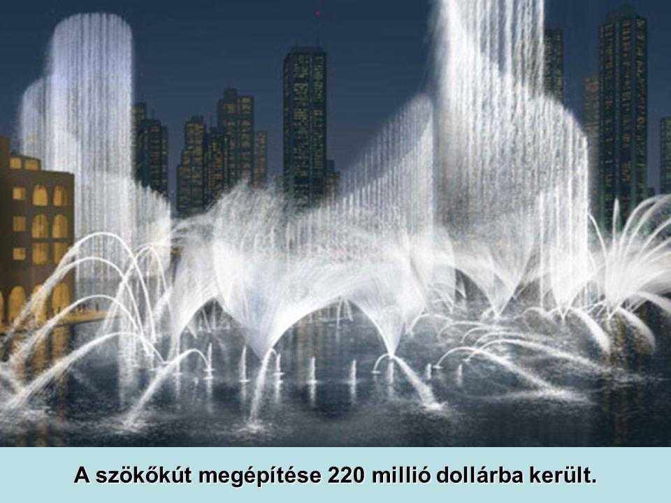 A szökőkút megépítése 220 millió dollárba került.