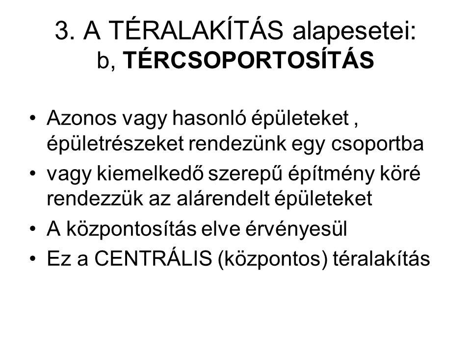 3. A TÉRALAKÍTÁS alapesetei: b, TÉRCSOPORTOSÍTÁS
