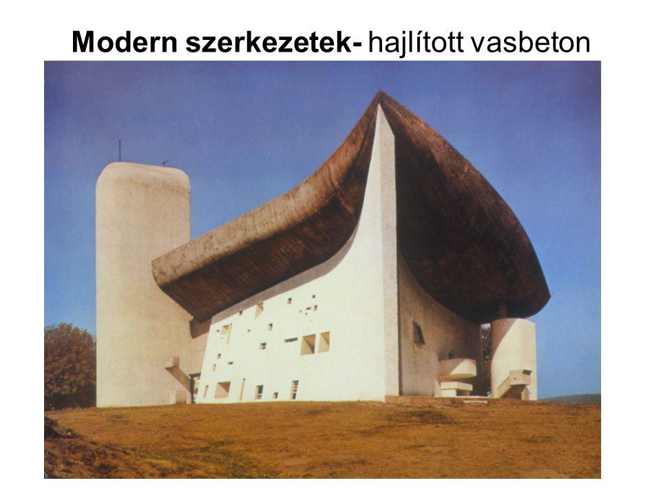 Modern szerkezetek- hajlított vasbeton