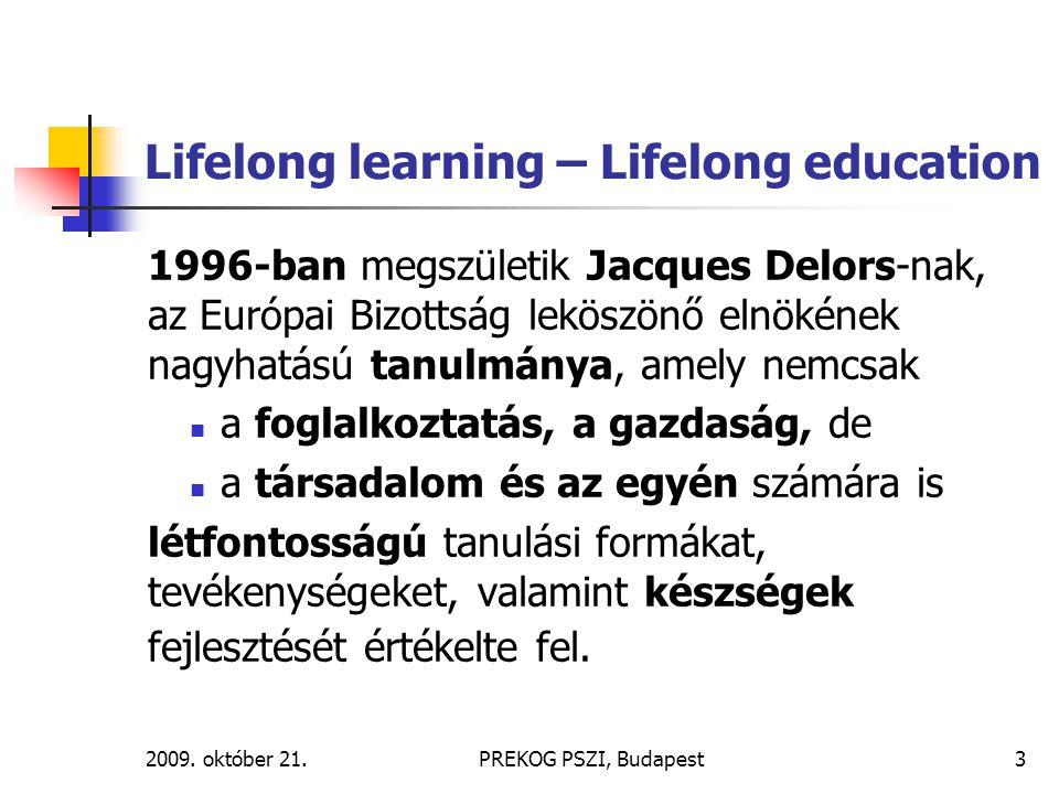 Lifelong learning – Lifelong education