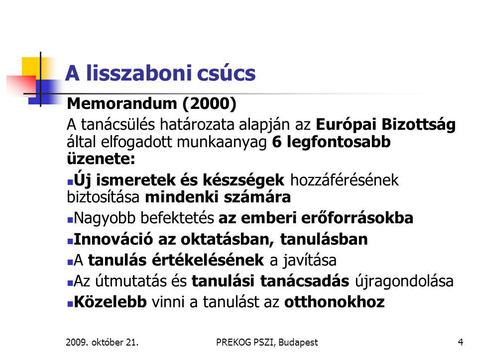 A lisszaboni csúcs Memorandum (2000)