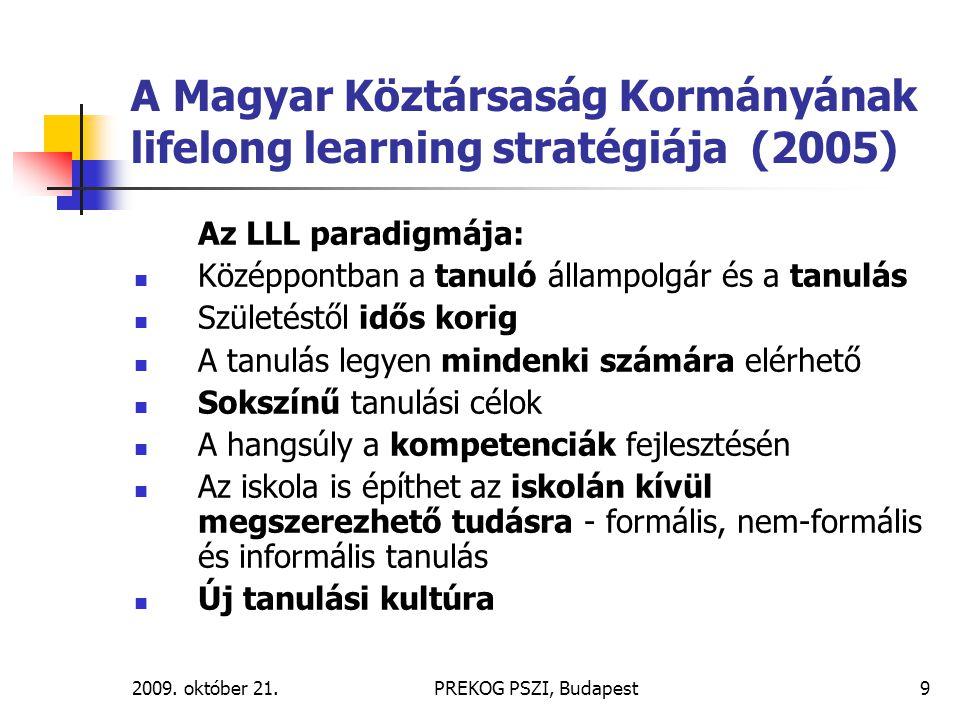 A Magyar Köztársaság Kormányának lifelong learning stratégiája (2005)