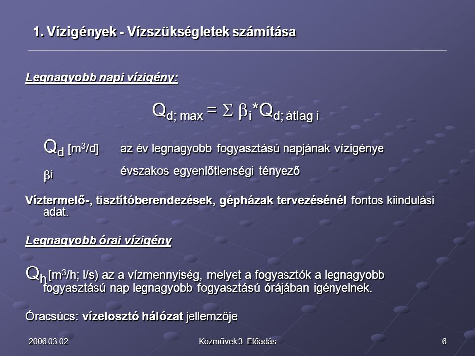 Qd; max = S bi*Qd; átlag i