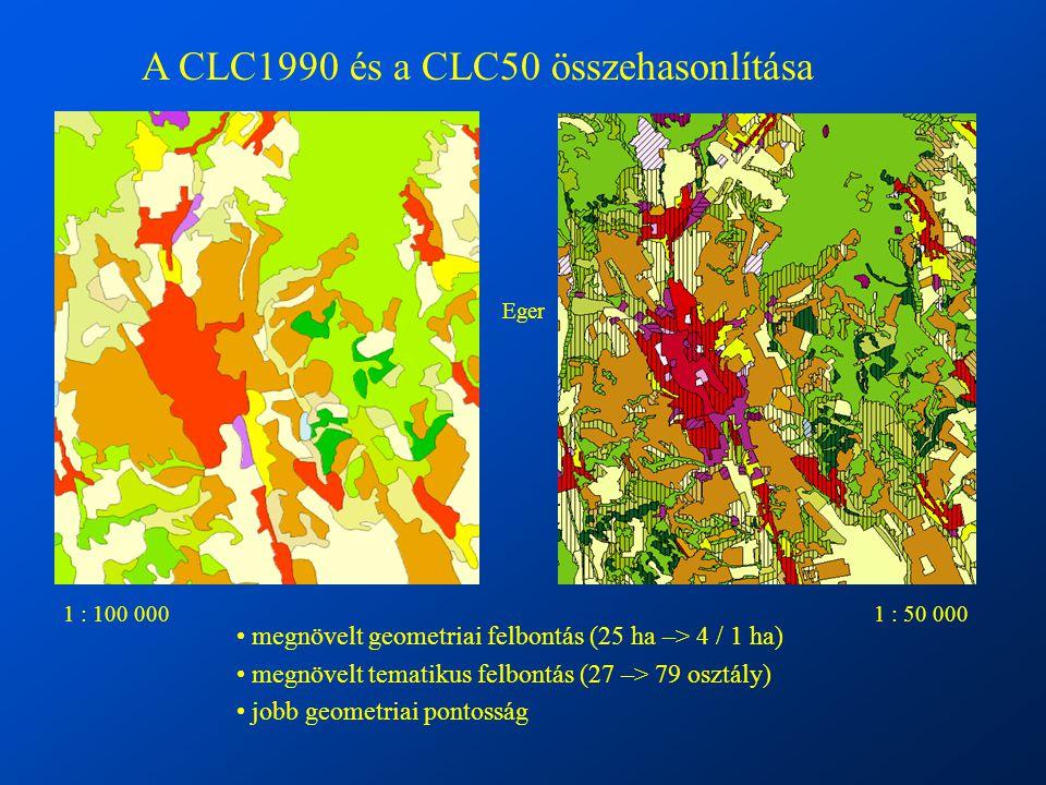 A CLC1990 és a CLC50 összehasonlítása