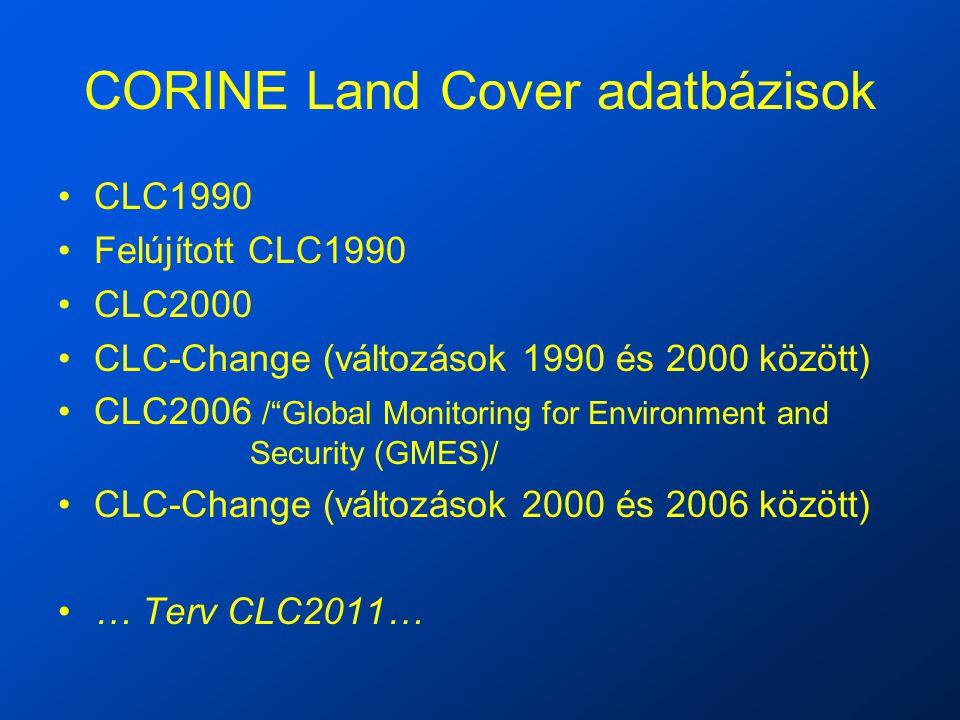 CORINE Land Cover adatbázisok