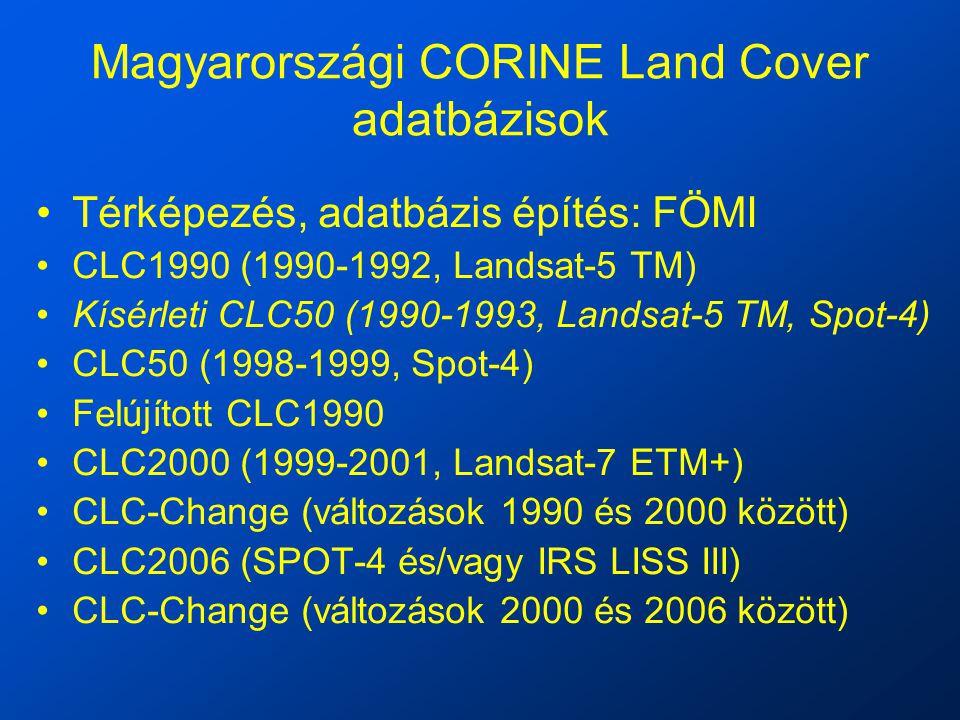 Magyarországi CORINE Land Cover adatbázisok
