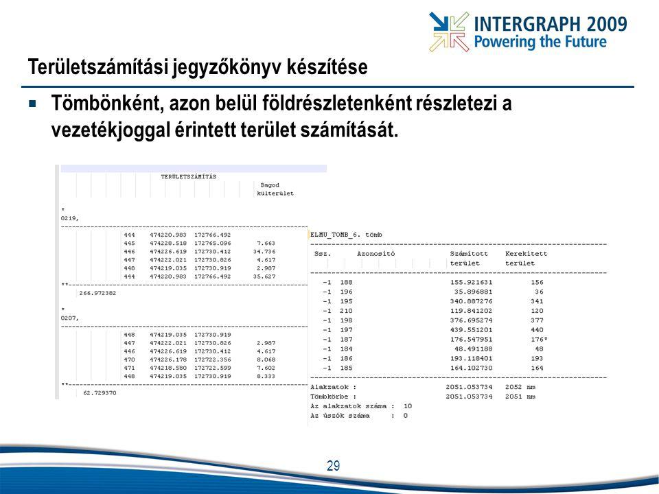 Területszámítási jegyzőkönyv készítése