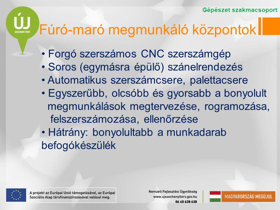 Fúró-maró megmunkáló központok