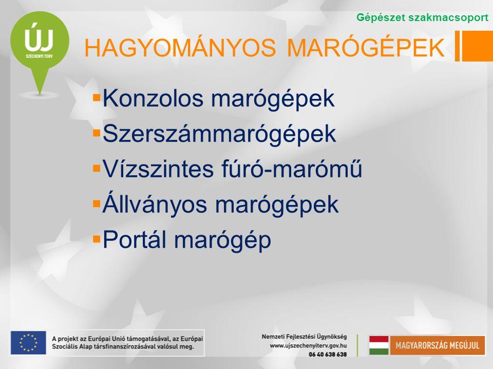 HAGYOMÁNYOS MARÓGÉPEK