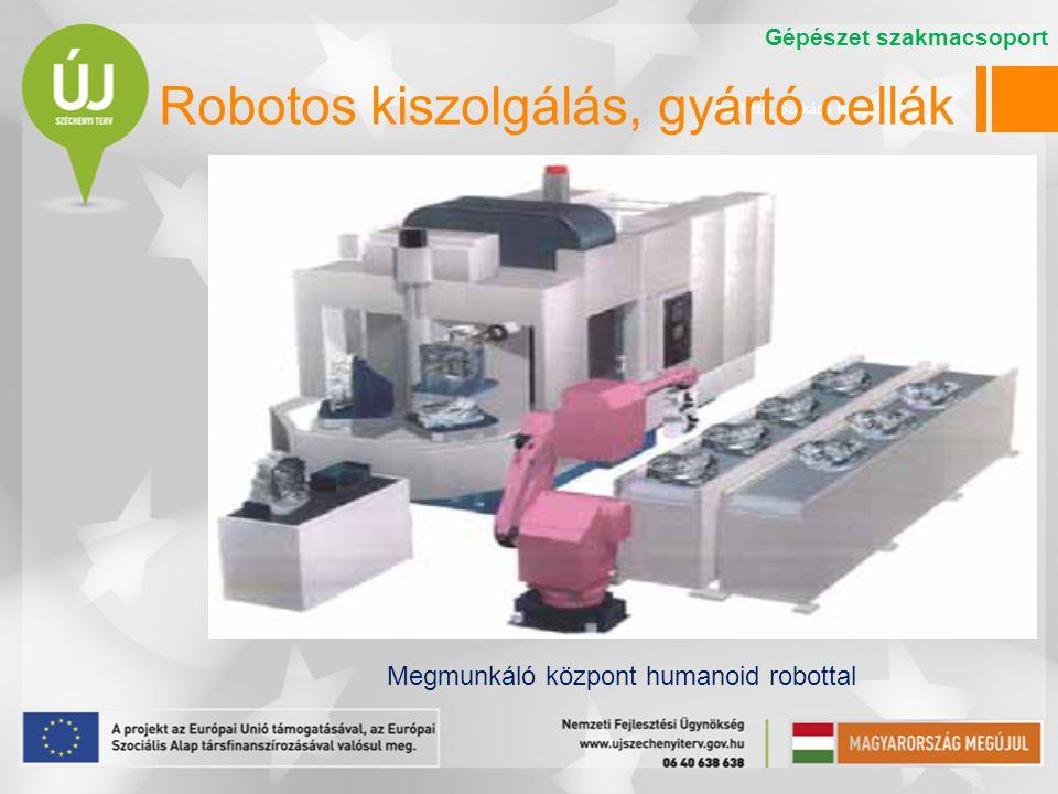 Robotos kiszolgálás, gyártó cellák