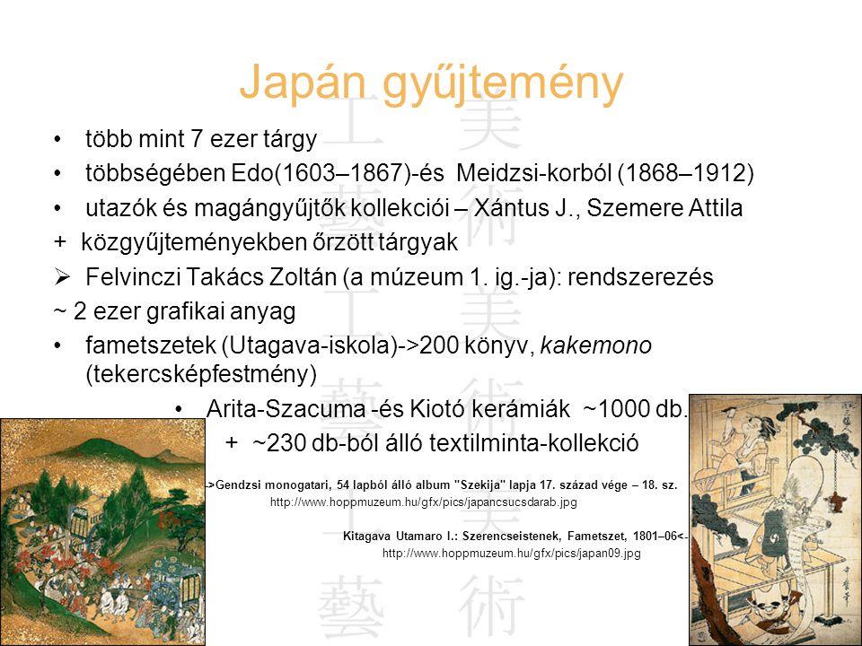 Japán gyűjtemény több mint 7 ezer tárgy