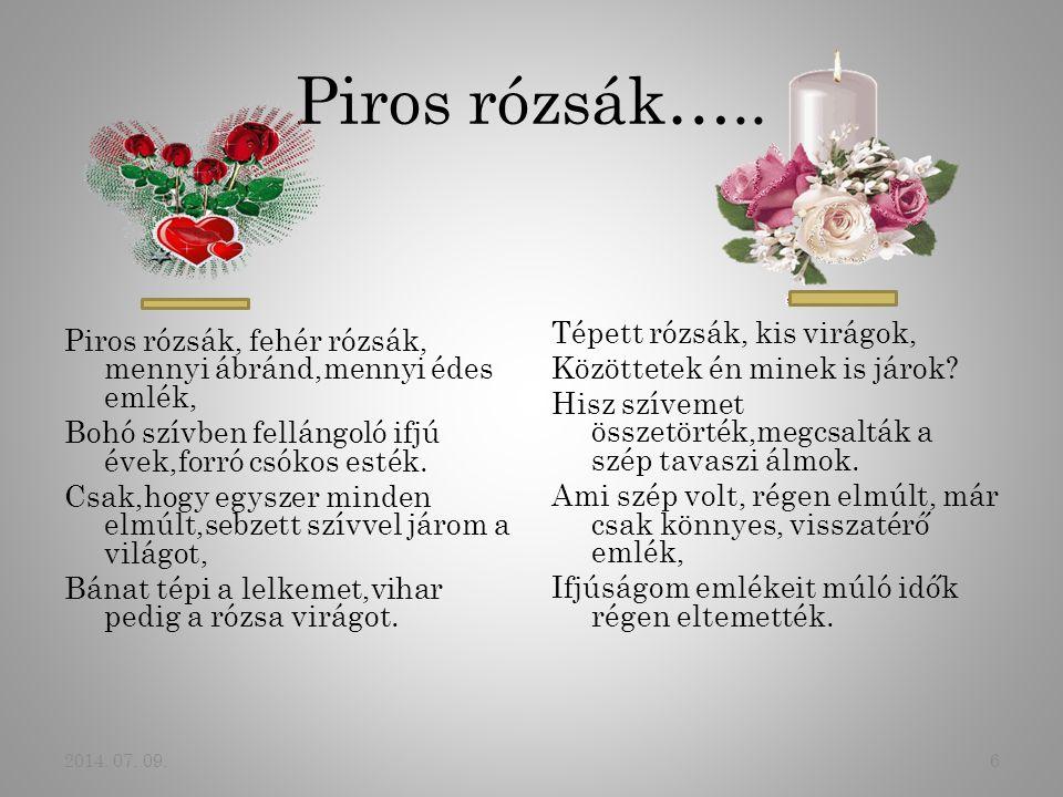 Piros rózsák…..