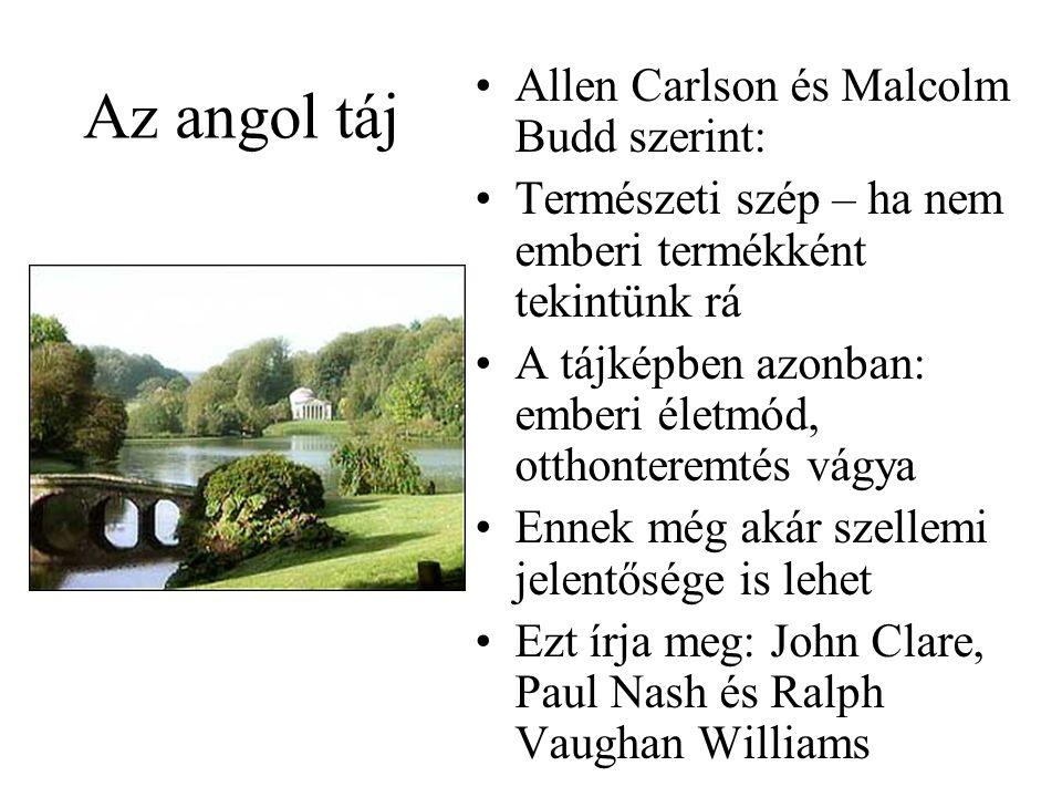 Az angol táj Allen Carlson és Malcolm Budd szerint: