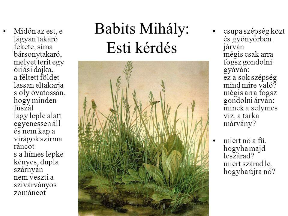 Babits Mihály: Esti kérdés