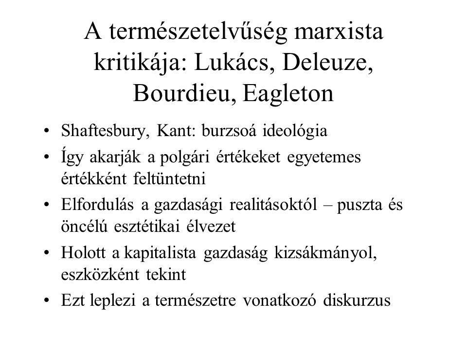 A természetelvűség marxista kritikája: Lukács, Deleuze, Bourdieu, Eagleton