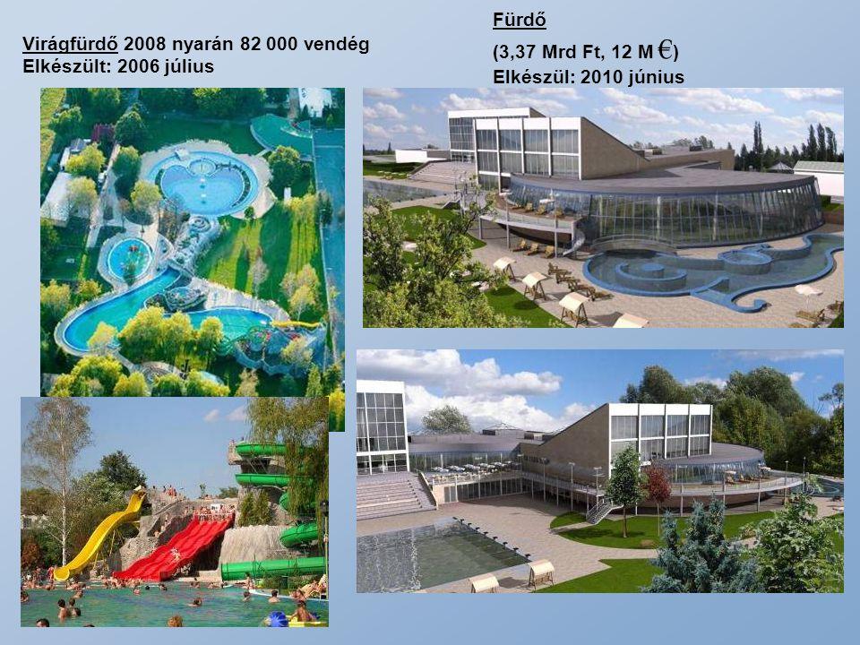 Fürdő (3,37 Mrd Ft, 12 M €) Elkészül: 2010 június