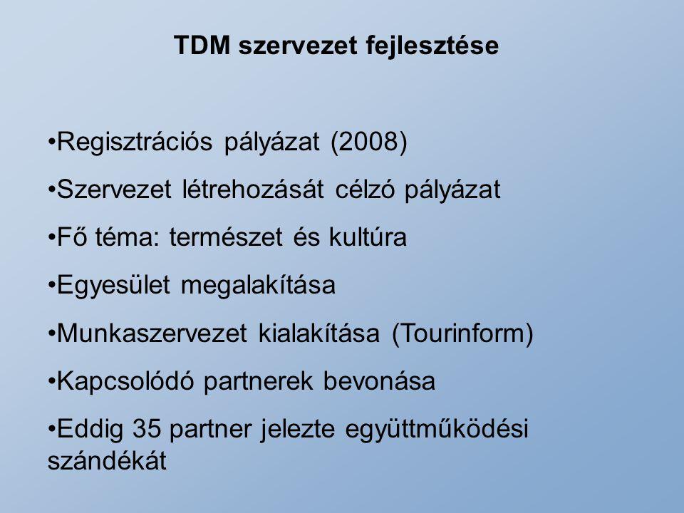 TDM szervezet fejlesztése