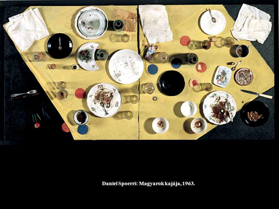 Daniel Spoerri: Magyarok kajája, 1963.